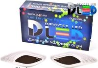 Дневные ходовые огни DLED DRL Tiger Eye - CREE 10W Черный ХРОМ