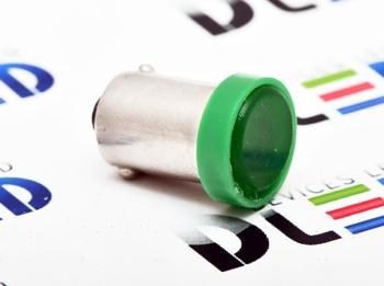 Светодиодная автолампа T4W BA9S - 1 COB 1Вт (Зелёный)