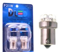Светодиодная автолампа P21W 1156 - 9 Dip-Led 0,45Вт (Белая)