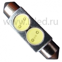 Салонная лампа C10W FEST 41мм - 2 HP 2Вт (Белый)