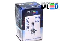Галогеновая автомобильная лампа H4 24V 75Вт
