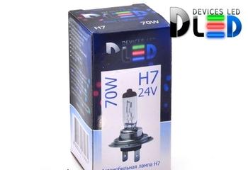 Галогеновая автомобильная лампа H7 24V 70Вт