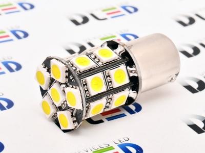 Светодиодная автолампа P21W 1156 - 20 SMD5050 Black 4,32Вт (Жёлтая)