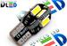 Светодиодная автолампа W5W T10 - 8 SMD5630 + Обманка 4Вт (Белый)