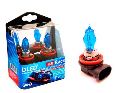 Газонаполненные автомобильные лампы H8 - DLED Racer 8000К 85Вт