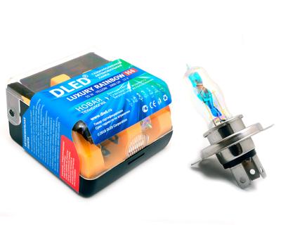 Газонаполненные автомобильные лампы H4 - DLED Luxury Rainbow 55Вт