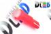 Автомобильная лампа T5 W1,2W - 1 COB 1Вт (Красная)