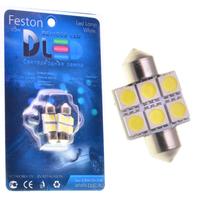 Салонная лампа C5W FEST 31мм - 6 SMD 1,44Вт (Синяя)