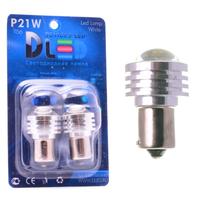 Светодиодная автолампа P21W 1156 - 1 HP Линза 90° 5Вт (Красная)