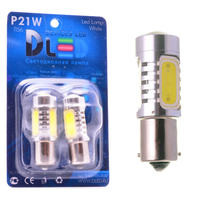 Светодиодная автолампа P21W 1156 - 4 HP Линза 6Вт (Жёлтая)