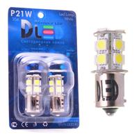 Светодиодная автолампа P21W 1156 - 13 SMD5050 3,12Вт (Жёлтая)