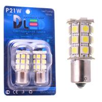 Светодиодная автолампа P21W 1156 - 27 SMD5050 6,48Вт (Жёлтая)