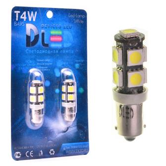 Светодиодная автолампа T4W BA9S - 9 SMD5050 Black 2,16Вт (Белый)