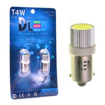 Светодиодная автолампа T4W BA9S - 1 HP 1,5Вт (Белый)