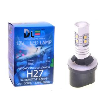 Светодиодная автолампа H27 880 - 10 SMD2323 Стабилизатор+Линза 10Вт