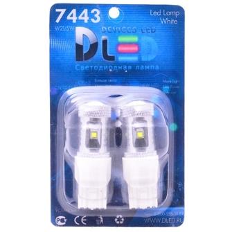 Светодиодная автолампа W21/5W 7443 - 6 CREE 30Вт (Белая)