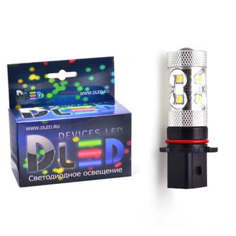Светодиодная автолампа PSX26W - 10 CREE Линза 50Вт