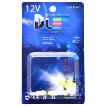 Автомобильная лампа T5 W1,2W - 1 COB 1Вт (Жёлтая)