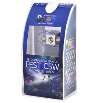 Салонная лампа C5W FEST 31мм - 1 CREE 3Вт (Белая)
