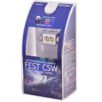 Салонная лампа C5W FEST 36мм - 2 CREE Обманка 6Вт (Белая)