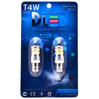 Светодиодная автолампа T4W BA9S - 36 SMD3014 3,6Вт (Белый)