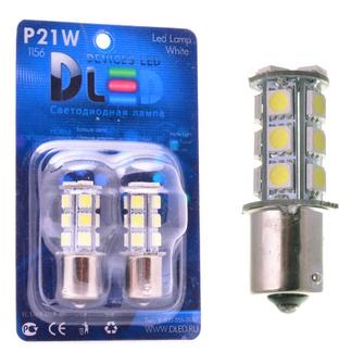 Светодиодная автолампа P21W 1156 - 18 SMD5050 4,32Вт  (Белая)