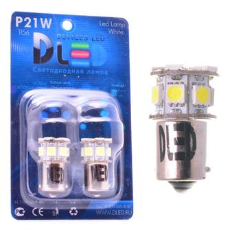 Светодиодная автолампа P21W 1156 - 9 SMD5050 2,16Вт (Белая)
