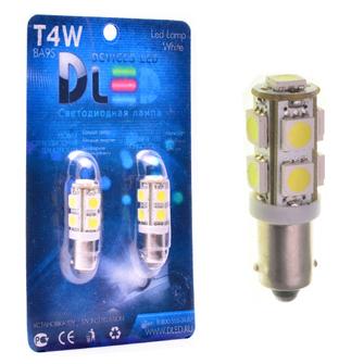 Светодиодная автолампа T4W BA9S - 9 SMD5050 2,16Вт (Белый)
