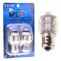 Светодиодная автолампа P21W 1156 - 13 Super-Flux 1,3Вт (Белая)