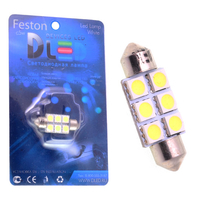 Салонная лампа C5W FEST 36мм - 6 SMD3528 1,44Вт (Белая)