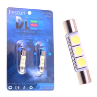 Салонная лампа C5W FEST 31мм - 3 SMD5050 0,72Вт (Белая)