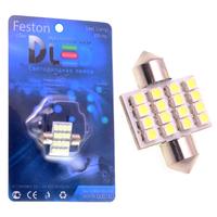 Салонная лампа C5W FEST 31мм - 16 SMD3528 1,28Вт (Белая)