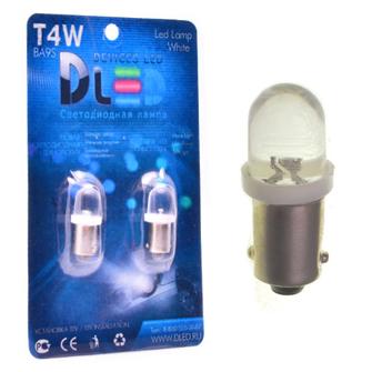 Светодиодная автолампа T4W BA9S - 1 Dip Капля 0,1Вт (Белый)