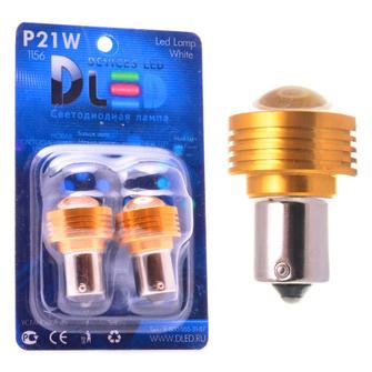 Светодиодная автолампа P21W 1156 - 1 HP Линза 60° 5Вт (Белая)