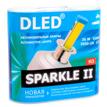 Светодиодная автолампа Н3 - DLED Sparkle 2 36Вт