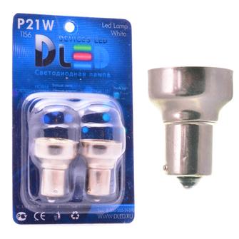 Светодиодная автолампа P21W 1156 - 16 SMD5050 3Вт (Белая)