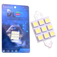 Салонная лампа C10W FEST 41мм - 6 SMD5050 IRON 2,6Вт (Белый)
