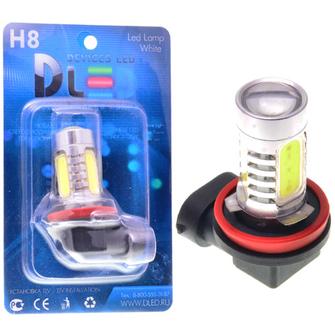 Светодиодная автолампа Н8 - 4 HP CREE+Линза 9.5Вт