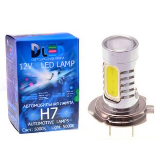 Светодиодная автолампа Н7 - 4 HP CREE+Линза 9.5Вт