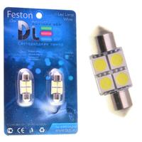 Салонная лампа C5W FEST 36мм - 4 SMD5050 0,96Вт (Белая)