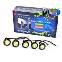 Дневные ходовые огни DRL-5x2 (с поворотом)