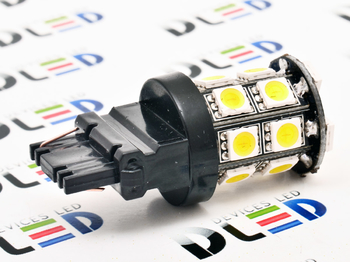 Светодиодная автолампа W27W 3156 - 20 SMD5050 Black 4,32Вт (Белая)