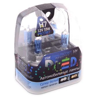 Газонаполненные автомобильные лампы H7 - DLED Рассвет 4500К 55Вт
