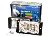 Штатные дневные ходовые огни ВАЗ 2110-2115 в ПТФ DLed DRL-143 DIP 2x2w