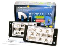Штатные дневные ходовые огни ВАЗ 2110-2115 в ПТФ DLed DRL-146 S-Flux 2x2w