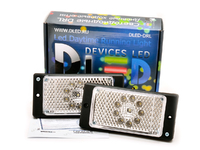 Штатные дневные ходовые огни ВАЗ 2110-2115 в ПТФ DLed DRL-147 DIP 2x2w