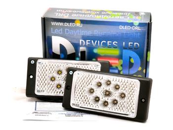 Штатные дневные ходовые огни ВАЗ 2110-2115 в ПТФ DLed DRL-149 DIP+S-Flux 2x2w