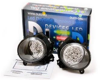Штатные дневные ходовые огни ВАЗ Гранта 2190 в ПТФ DLed DRL-153 DIP 2x1.5w