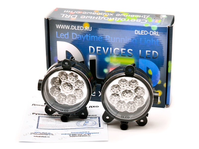 Штатные дневные ходовые огни ВАЗ Приора 2170-72 в ПТФ DLed DRL-154 DIP 2x2w