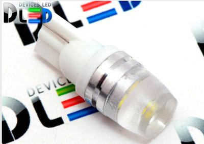 Светодиодная автолампа W5W T10 - 1 HP 1,5Вт (Белый)